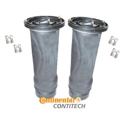 Pair Rear Discovery 2 OEM 'ContiTech' Air Springs & Clips 1998-2004