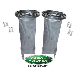 Pair Rear Genuine Land Rover 2 Dunlop Air Springs & Clips 1998-2004