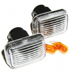 Range Rover P38 MKII Clear Side Indicators & Amber Bulbs Fits Left & Right 1995-2002